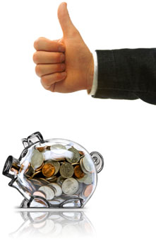 Thumbs up piggy bank, Fishbowl Inventory Blog
