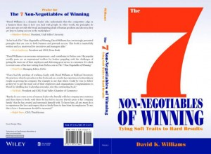 The 7 Non-Negotiables of Winning book cover, Fishbowl Inventory Blog